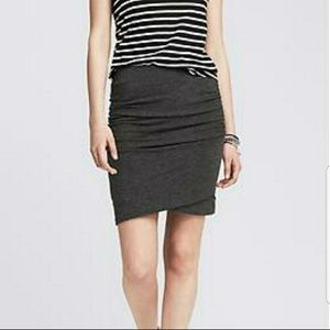 Ruched side jersey mini skirt